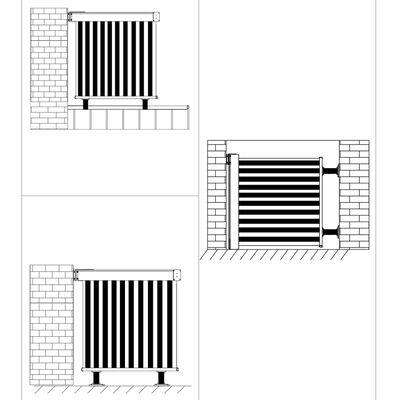 vidaXL Auvent latéral de balcon multifonctionnel 150 x 200 cm Noir