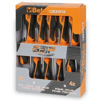 Beta Tools tournevis 1263/D10 en acier 10 pcs 012630010