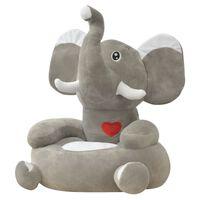 vidaXL Chaise en peluche pour enfants Éléphant gris