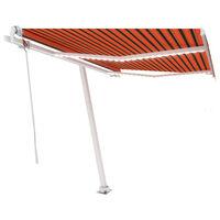 vidaXL Auvent automatique capteur de vent/LED 350x250 cm Orange/marron
