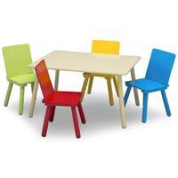 Delta Children Jeu de table et de chaises pour enfants Multicolore