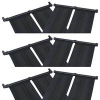 vidaXL Panneaux solaires de chauffage de piscine 6 pcs 80x310 cm