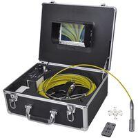 vidaXL Caméra d'inspection de tuyaux 30 m avec boîtier de commande DVR