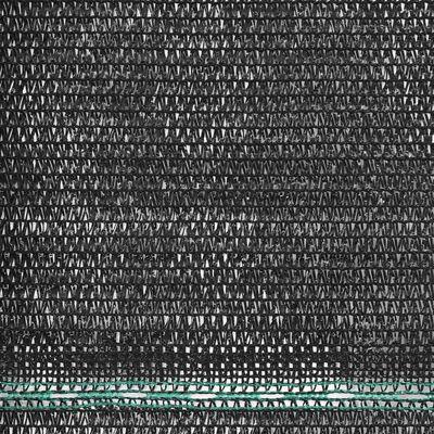 vidaXL Clôture de tennis PEHD 1,4 x 50 m Noir