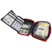 """Travelsafe 57 Piece First Aid Kit """"Globe Tour"""" Red"""