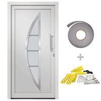 vidaXL Porte d'entrée Blanc 98x190 cm