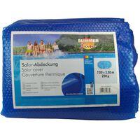 Summer Fun Couverture solaire de piscine d'été Ovale 700x350cm PE Bleu