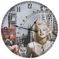 vidaXL Horloge murale vintage Marilyn Monroe 60 cm