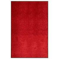 vidaXL Paillasson lavable Rouge 120x180 cm