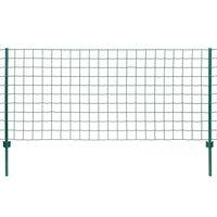 vidaXL Clôture Euro Acier 20x1,5 m Vert