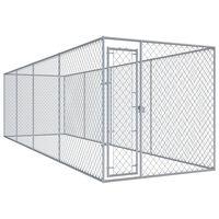 vidaXL Chenil d'extérieur pour chiens 760x192x185 cm