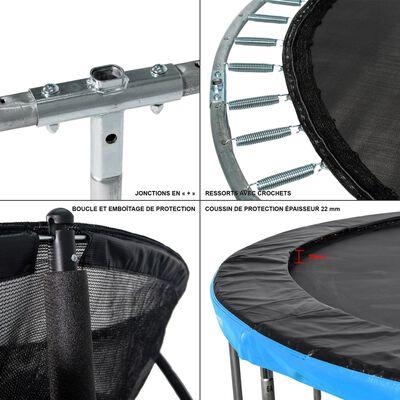 GREADEN Trampoline extérieur bleu 305 + Échelle/ancrage