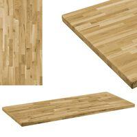 vidaXL Dessus de table Bois de chêne Rectangulaire 44 mm 120x60 cm