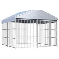 vidaXL Chenil d'extérieur avec toit pour chiens 300 x 300 x 200 cm