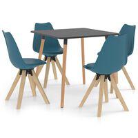 vidaXL Ensemble de salle à manger 5 pcs Turquoise