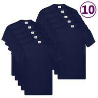 Fruit of the Loom T-shirts originaux 10 pcs Bleu marine 4XL Coton