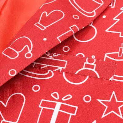 vidaXL Costume 2 pièces Noël et cravate Homme Taille 48 Cadeaux Rouge