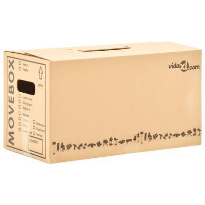 vidaXL Boîtes de déménagement Carton XXL 100 pcs 60x33x34 cm