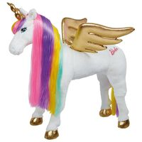 Barbie Licorne arc-en-ciel avec son 81 cm