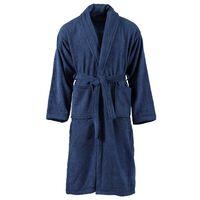vidaXL Peignoir unisexe Terry 100 % Coton Bleu marine XL