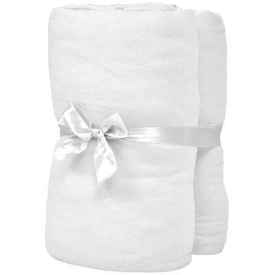 vidaXL Drap-housse pour berceaux 4 pcs Jersey de coton 40x80 cm Blanc