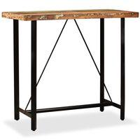 vidaXL Table de bar Bois massif de récupération 120 x 60 x 107 cm