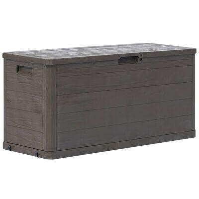 vidaXL Boîte de rangement de jardin 280 L Marron