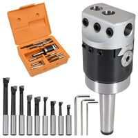 vidaXL Jeu d'outils d'alésage 15 pcs 50 mm Tête d'alésage MT2-F1-12