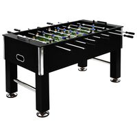 vidaXL Table de football Acier 60 kg 140 x 74,5 x 87,5 cm Noir