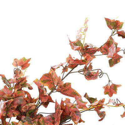 vidaXL 2 pcs Feuilles artificielles de raisin Rouge 90 cm
