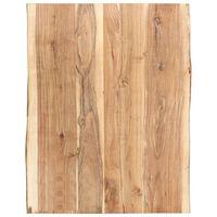 vidaXL Dessus de table Bois d'acacia massif 80x50-60x3,8 cm
