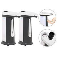 vidaXL Distributeur automatique de savon 2 pcs Capteur IR Carillon