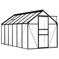 vidaXL Serre Anthracite Aluminium 7,03 m²