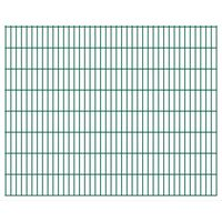 vidaXL Panneaux de clôture de jardin 2D 2,008x1,63 m 28 m total Vert