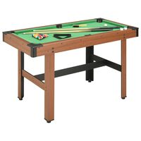 vidaXL Table de billard 4 pieds 122x61x76 cm Marron