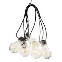 KONSTSMIDE Guirlande lumineuse avec 10 ampoules transparentes