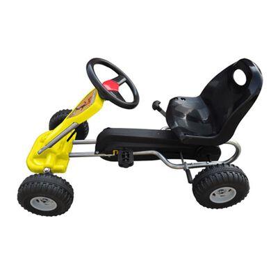vidaXL Kart à pédales Jaune