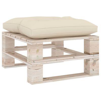 vidaXL Coussin de plancher de palette 60x61x10 cm Crème