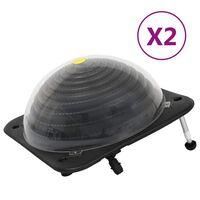 vidaXL Chauffage solaire de piscine 2 pcs 75x75x36 cm PEHD Aluminium