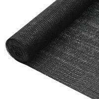 vidaXL Filet brise-vue Noir 3,6x25 m PEHD 195 g/m²