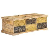 vidaXL Table basse 100 x 50 x 35 cm Bois de manguier massif
