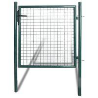 vidaXL Portail de clôture à porte simple Acier enduit de poudre