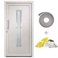 vidaXL Porte d'entrée Blanc 108x200 cm