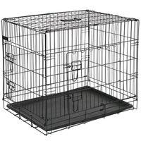@Pet Cage pour chien 50,8x30,5x35,5 cm Métal Noir 15006
