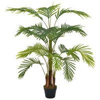 vidaXL Plante artificielle avec pot Palmier Vert 120 cm