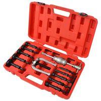 vidaXL Kit d'extracteurs de roulements 16 pièces