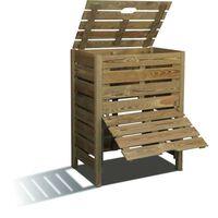 Bac à compost en bois Tibeo 400L