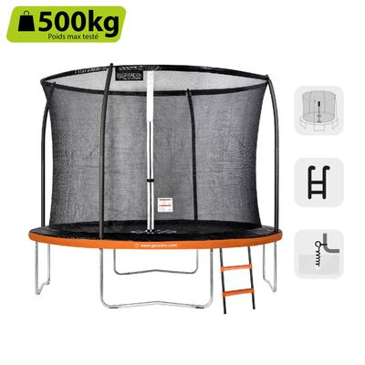 GREADEN Trampoline de jardin 305/10FT Échelle/kit d'ancrage