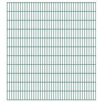 vidaXL Panneaux de clôture de jardin 2D 2,008x2,23 m 6 m total Vert