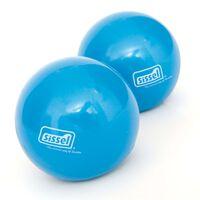 Sissel Ballon de tonification de Pilates 2 pcs 450 g Bleu SIS-310.037